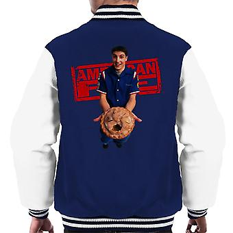 American Pie Jim Holding Eaten Pie Men's Varsity Jacket