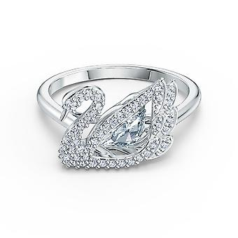BAGUE Swarovski 5534841-M Tal Silver Swan Women ' s Strass ring