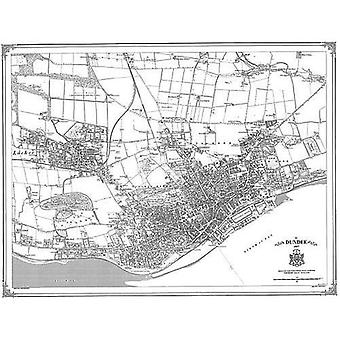 Dundee 1857 Karte (Heritage Cartography Victorian Town Map Series) [Faltkarte]