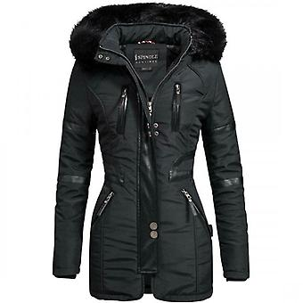 Spindle Womens Designer Winter Parka Quilted Hooded Long Coat Jacket- Fleece Lined
