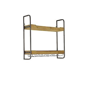 Light & Living Wall Rack 2 Layers 73x20x69cm Sucre Wood