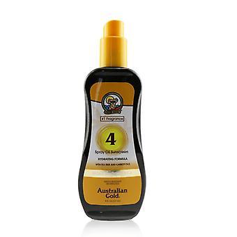 Australian Gold Spray Oil Sunscreen Broad Spectrum Spf 4 With Tea Tree & Carrot Oils - #1 Fragrance - 237ml/8oz