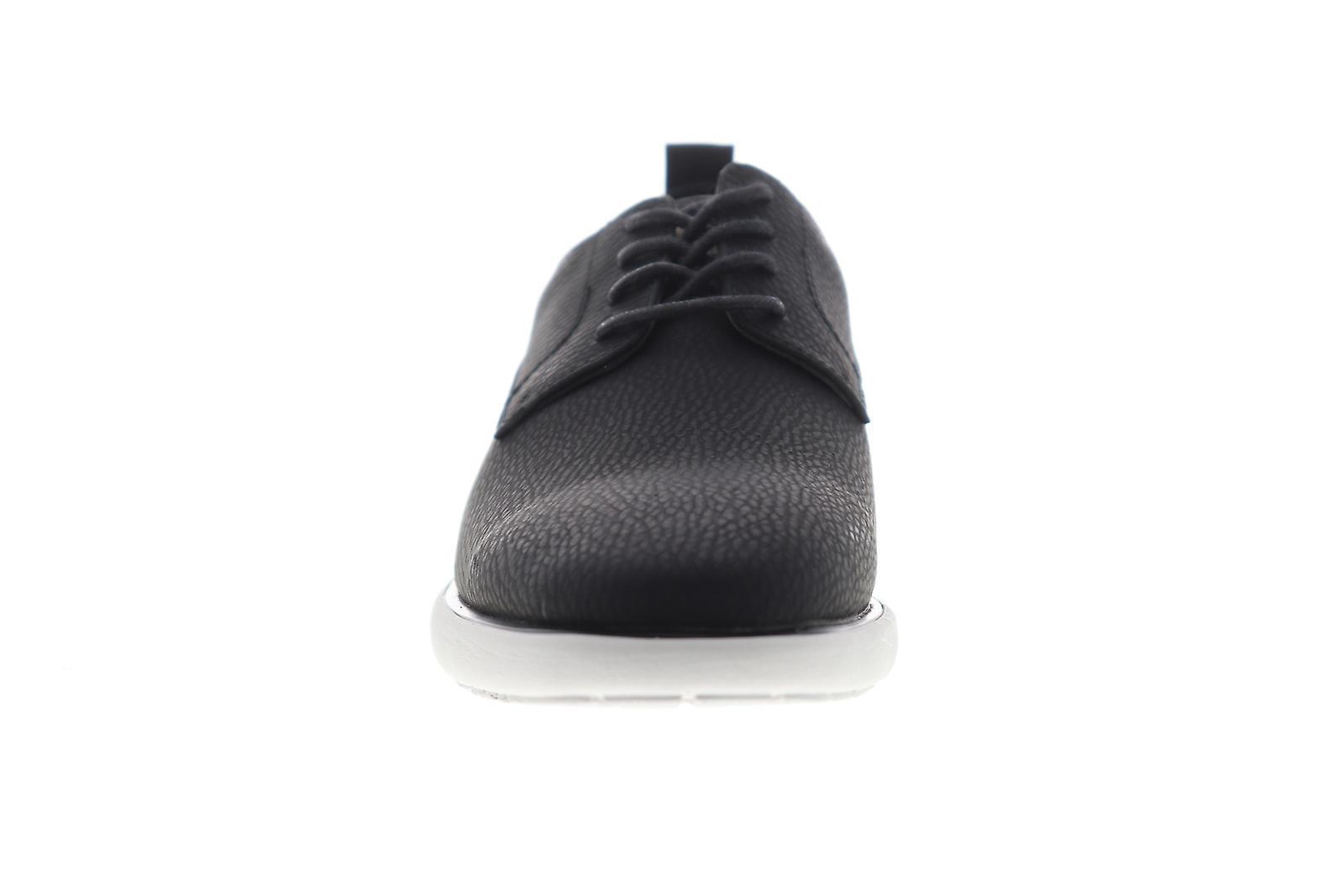 G.H. Bass Duncan Tumbled Mens Black Casual Lace Up Oxfords Shoes - Remise particulière