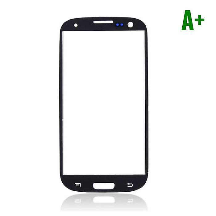 Stuff Certified® Samsung Galaxy S3 i9300 A + Quality Front Glass - Black