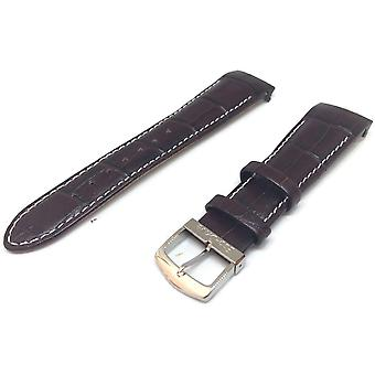 Authentic citizen watch strap brown crocodile grain calf leather 22mm 59-s51439