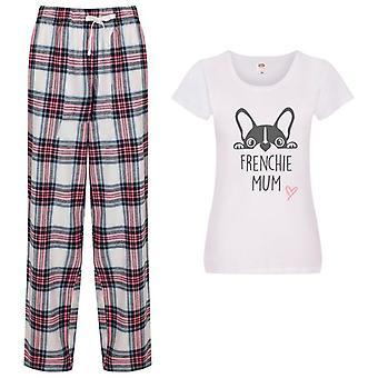 Frenchie Mum Tartan Trouser Pyjamas