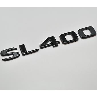 Gloss Black SL400 Flat Mercedes Benz Car Model Rear Boot Number Letter Sticker Decal Badge Emblem For SL Class R230 R231 AMG