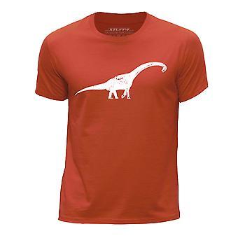 STUFF4 Chłopca rundy szyi T-shirty-Shirt/dinozaur/diplodok/Orange