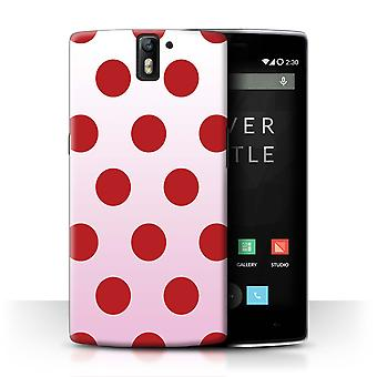 STUFF4 Case/Cover voor OnePlus One/rood Polka Dot/Ombre patroon