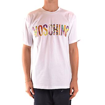 Moschino Ezbc015137 Men's White Cotton T-shirt