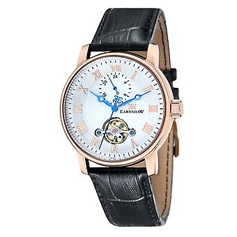 Thomas Earnshaw Watches Es-8042-03 Westminster Two Tone & Black Leather Automatic Men's Watch