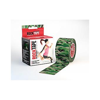 Rocktape Strong Adhesive Kinesiology Tape Patterned Roll - Zielony kamuflaż
