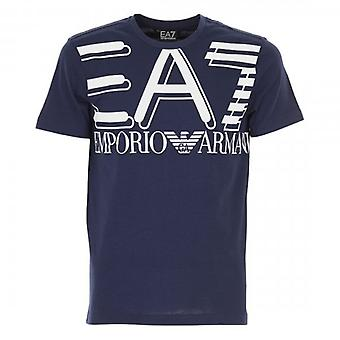 EA7 Emporio Armani Logo Crew Neck T-Shirt Navy 3HPT09 PJ02Z
