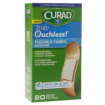 Curad truly ouchless flexible fabric bandage, .75 inch x 3 inch, 20 ea