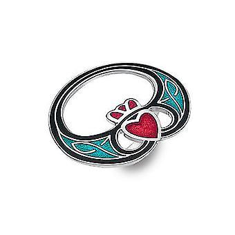 Celtic Claddagh Modern Enamel Scarf Ring - Gift Boxed