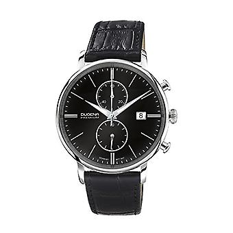 Dugena Premium 7000181-men's wristwatch, leather, color: black