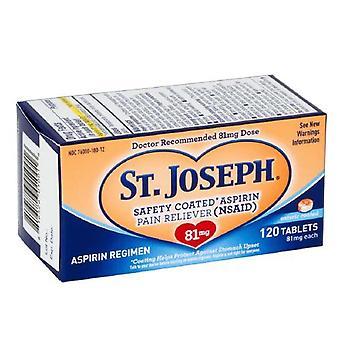 St. Joseph säkerhetsbelagd Aspirin, 81 mg, tabletter, 120 EA