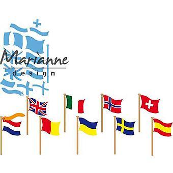 Marianne Design Creatables Cutting Dies - Flags LR0603 55x30 mm