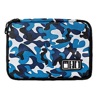 Bag for storing cords, electronics - Blue