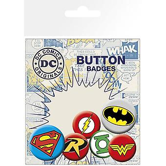 DC Comics Logos Pin Button Badges Set