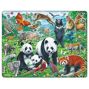 Larsen Jigsaw Puzzle - Chinese Wildlife, 56 Piece