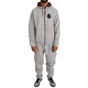 Gray cotton sweater pants tracksuit a59
