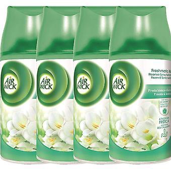 4 X Air Wick Freshmatic Max Automatisk Spray Refill 250Ml - Hvite blomster