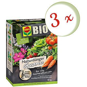 Sparset: 3 x COMPO BIO Natural Fertilizer Guano, 6 kg