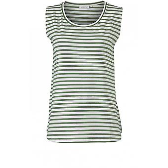 Masai Clothing Elisa Elm Green Striped Top