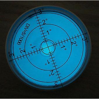 Luminous Metal Large Spirit Bubble Level 60mm Diameter, Blue/Silver
