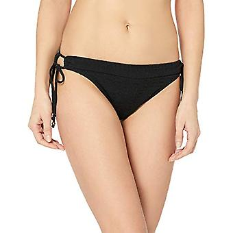 Lucky Brand Women's Side Tie Hipster Bikini Swimsuit Bottom, Black//Shoreline...