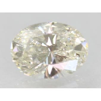 認定 0.50 カラット G カラー VVS2 オーバル ナチュラル ルーズ ダイヤモンド リング 6.18x4.63m