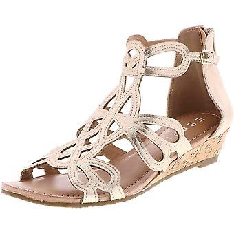 ESPRIT Women's Schoenen Charlotte Suede Peep Toe Casual Enkelband Sandalen
