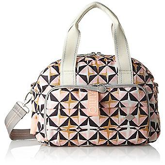 Oilily Ruffles Geometrical Handbag Mhz 1 - Pink Women's Bag (Rose) 15x22x32cm (B x H T)