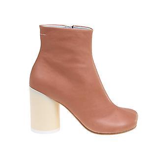 Mm6 Maison Margiela S59wu0172p2721t2212 Femmes's Bottes de cheville en cuir brun