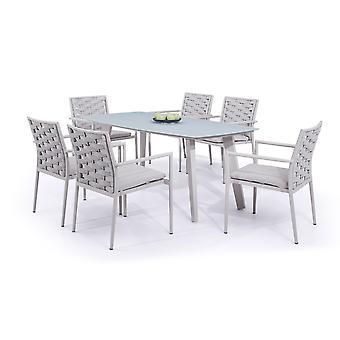 Alu Dining Group Coco 6 - jedwabiu szary