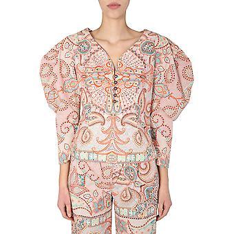 Etro 136124326750 Women's Multicolor Cotton Top
