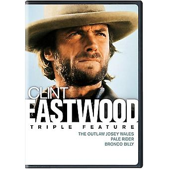 Outlaw Josey Wales / Pale Rider / Bronco Billy [DVD] USA import