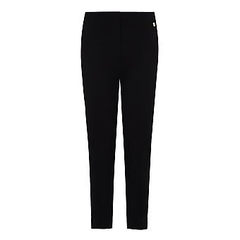 PENNY PLAIN Black Cropped Bengaline Trousers