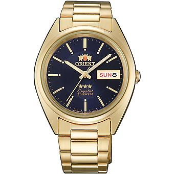 Orient 3 Star Watch FAB00004D9 - Plated Stainless Steel Unisex Automatic Analogue
