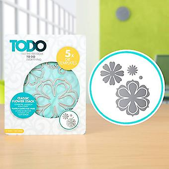 TODO Die Template Set Classic Flower Stack