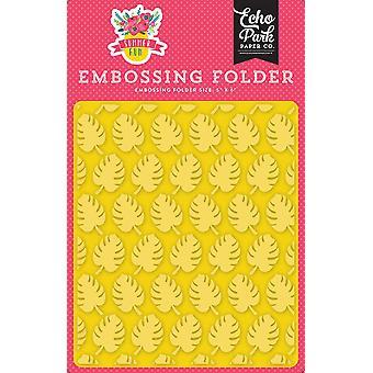 Echo Park Embossing Folder Perfect Palm 12,7x14,9 cm