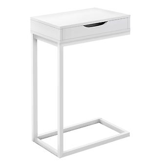 """16"""" X 10.25"""" X 24.5"""" White Metal With A Drawer Accent Table"""