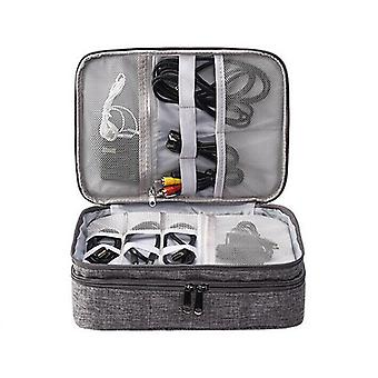 Electronic Digital Organizer Waterproof Travel Storage Bag - Usb Cable,