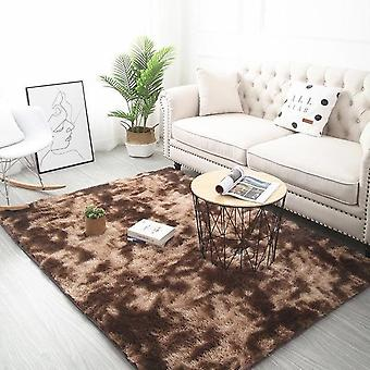 Tie Dyeing Anti Slip Plush Soft Carpets For Living Room Bedroom Floor