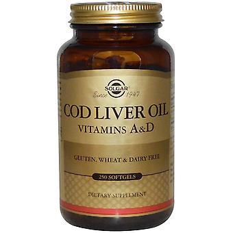 Solgar, Aceite de Hígado de Bacalao, Vitaminas A & D, 250 Softgels
