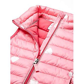 Essentials Girl's Lightweight Water-Resistant Packable Puffer Vest, Pi...