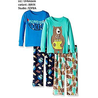 Simple Joys by Carter's Boys' Toddler 4-Piece Pajama Set, Monster/Bear, 4T