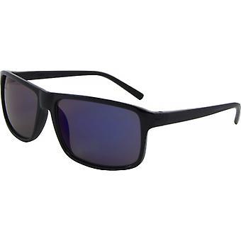 Okulary przeciwsłoneczne Unisex Wayfarer Kat. 3 czarne/niebieskie (podstawowe 135-C)