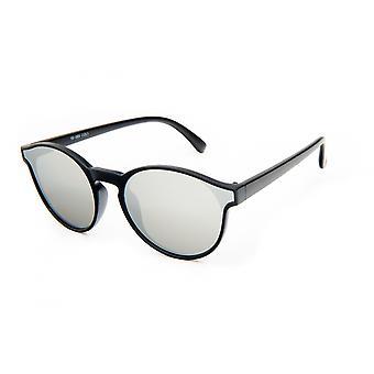 النظارات الشمسية Unisex مات الأسود / الفضة (19-069)